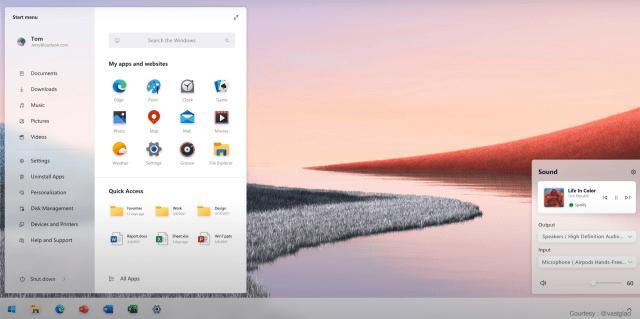 חלונות 11 Windows תפריט התחל
